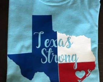 Texas Strong shirt, Houston strong, Hurricane Harvey, Texas strong, Texas strong shirt in multiple color options