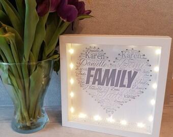 Light Up Family Box Frame