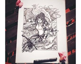 Legend of Korra ORIGINAL Drawing