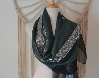 Metallic Bride - Metallic Sheer Wrap, Wedding Shawl, Wedding Wrap, Metallic Sparkly Shawl, Sparkly Wrap, Metallic Scarf, Bridesmaid gift