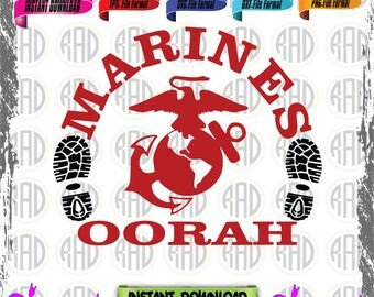 Marines, Cut Files, EPS, SVG, Png, Vectors
