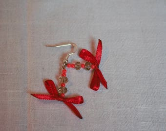 Fancy Red Bow earrings