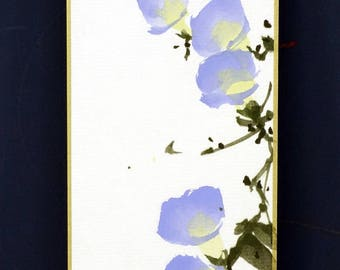 Tradition Chinese Ink Painting, Original Painting, Sumi-E, Morning glory