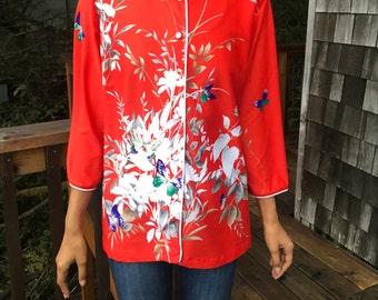 Vintage 70s Lady Winn by Teddi Asian-style Shirt