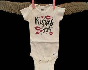 Kisses Bodysuit, Baby, Infant, Clothes