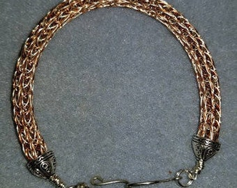 Viking Wire Bracelet - Copper & Silver