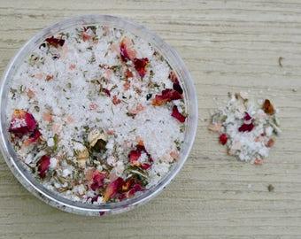 Garnet Galaxy Foot and Body Salts, soakology, bath salts, herbs, soaking, herbal