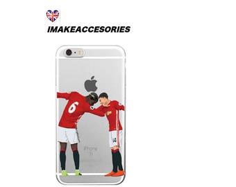 Football dab2 man u Hard Case for iPhone 5S 5 SE, iPhone 6S 6 or iPhone 7 8 iPhone X