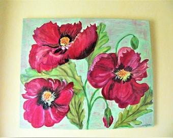 Anemones oil painting