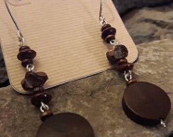 Wooden Chain Earrings