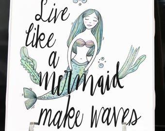 "Mermaid ""Make Waves"" Coaster"