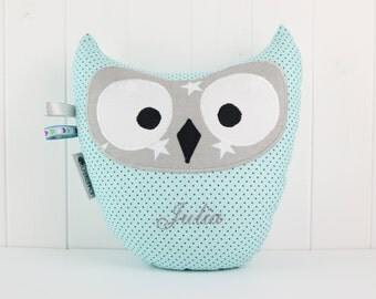 Owl Pillow-Sky Blue-Home Decor-Cushion Owl