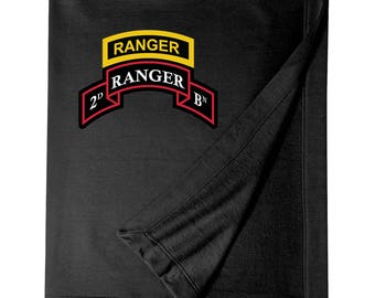 2/75th Ranger Battalion w/ Ranger Tab Embroidered Blanket-3316
