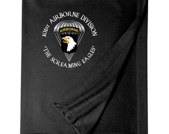 101st Airborne Division Embroidered Blanket-3616