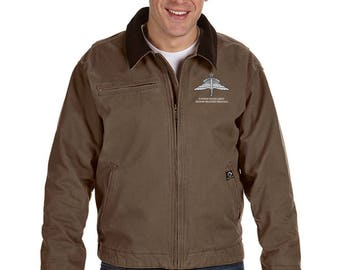 US Army Senior HALO Embroidered Dri-Duck Outlaw Jacket-7811