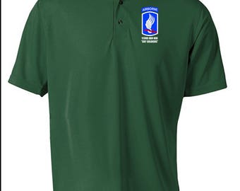 173rd Airborne Brigade Embroidered Moisture Wick Polo Shirt -3932