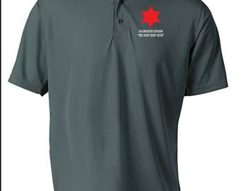 6th Infantry Division Embroidered Moisture Wick Polo Shirt -6201