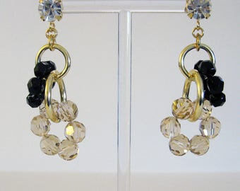 Earrings high jewelry in resin and golden aluminum