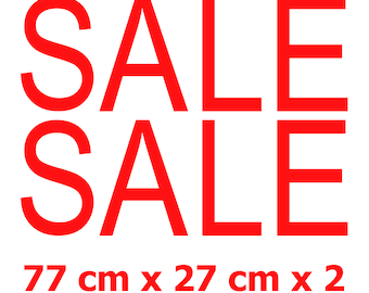 2x SALE Shop Window Retail Sign High Quality Vinyl Stickers Decals 55 cm x 14 cm