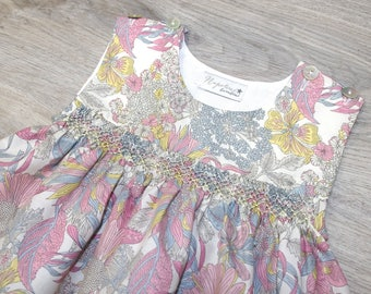 Smocked Liberty Baby Girls Top and Knickers
