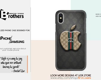 Gucci apple phone cases for iPhone X, 8/8 Plus, 7/7 Plus, SE, 6s/6, 5/5S/5C, 4/4S, Samsung, silicone/plastic, fashion, style