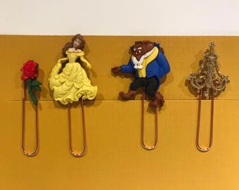 Set of 4 Beauty & the Beast Planner Clips