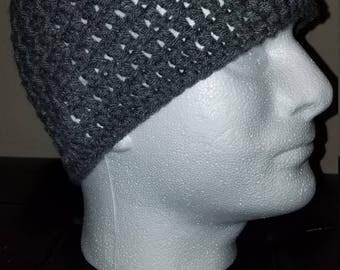 Gray beanie hats