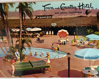Town and Country Hotel, San Diego, California Vintage Postcard