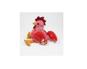 Ty Beanie Babies Strut the Rooster Gen 4 1996