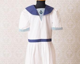 Polly Flinders Nautical Sailor Girls Dress
