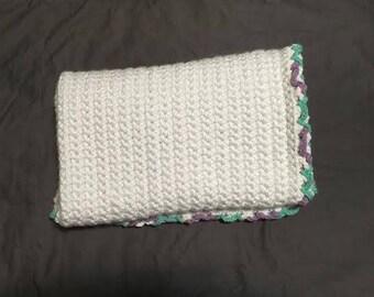 Crochet Baby Blanket - white