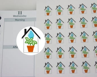 48 water Indoor plants sticker, reminder stickers,planner sticker ------M138P