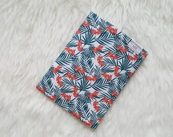 MIDI- Book sleeve, book pouch, book protector, Bibliosleeve, tropical print book sleeve