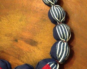 Color-Blocked & Striped Cashmere-Cotton Necklace