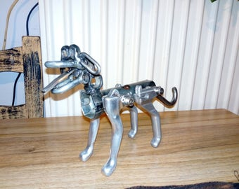 recycled metal dog-miniature dog-dog-sculpture-kids gift-toy-gift-