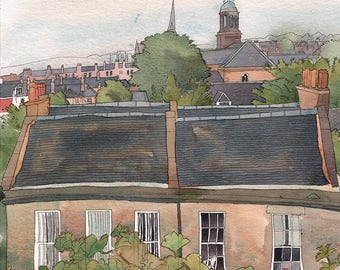 Portobello Rooftops signed limited edition giclee print