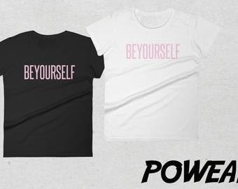 Be yourself Beyonce Women Tshirt Black White
