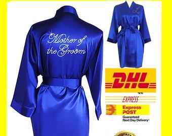 ROYAL BLUE  Bridesmaid Robes / Bride Robe / Bridal Party Robes / Bridesmaid Gift / Bridal Robe / Monogrammed /Personalised Robe
