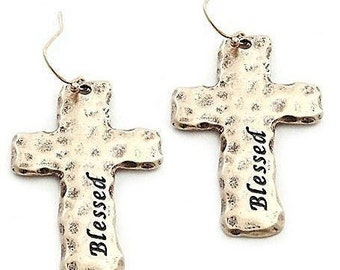Blessed Cross Earrings