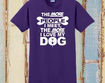 DOG SHIRT, Personalized T-Shirt, Custom T-Shirt, Dog Lover, Gift, Funny Dog Shirt, Pet Lover Gift, Dog Mom, Dog Owner, Tee Shirt, My Dog