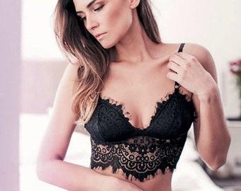 Black Lace Lingerie Set KENDALL + Panty