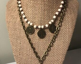 Antique Bronze Necklace Set