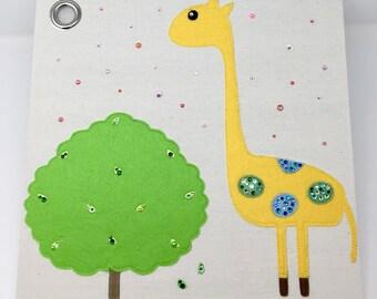 Baby Giraffe Canvas Storage Box