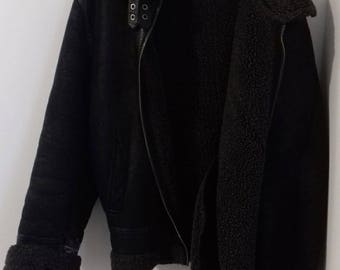 Vintage Shearling Coat Jacket by Buxter