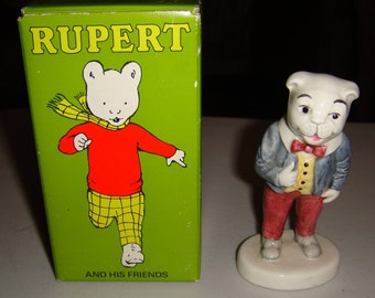 Rupert and His Friends - Algy Pig Figurine E2710