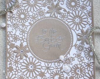 To The Bride and Groom Handmade Wedding Card