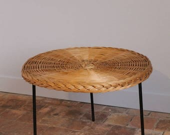 Vintage Wicker Coffee table, from the 50s