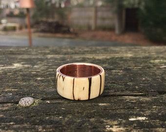 Wedding band, wood wedding ring, wood ring, men's gifts, natural jewelry, natural ring