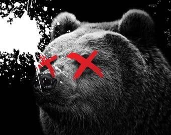 Digital bear painting