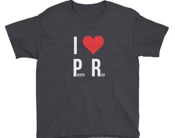 I Love Puerto Rico Youth Short Sleeve T-Shirt